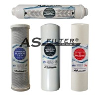 "FILTROS DE OSMOSIS 10"" HQ ASFILTER PACK 4"