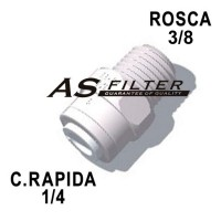 "RECTO C.RAPIDA 1/4"" X ROSCA 3/8"""