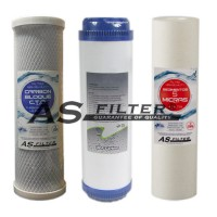 """FILTERS OSMOSIS 10"""" ASFILTER PACK 3"""