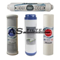 """FILTERS OSMOSIS 10"""" ASFILTER PACK 4"""