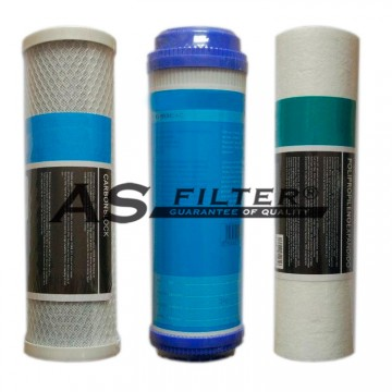 """FILTERS OSMOSIS 10"""" HQ PACK 3"""