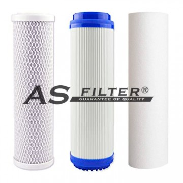 """FILTERS OSMOSIS 10"""" STD PACK 3"""