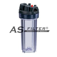 "Filter housing 10"" clear conn.3/4"" ASFILTER"