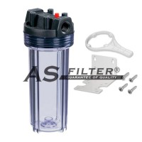 """FILTER HOUSING CLEAR 10"""" 2P C.3/4"""""""