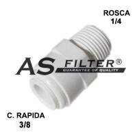 "RECTO C.RAPIDA 3/8"" X ROSCA 1/4"""