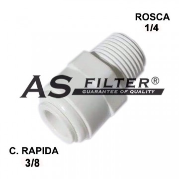 RECTO C.RAPIDA 3/8 X ROSCA 1/4