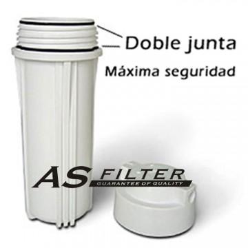 "Filter housing 10"" white ASFILTER"