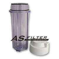 "FILTER HOUSING 10"" CLEAR FOR RO ASFILTER"