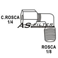 CODO ANTIRRETORNO C.ROSCA1/4 X ROSCA1/8