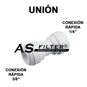 """UNION C.RAPIDA 3/8"""" X C.RAPIDA 1/4"""""""