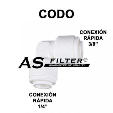 """CODO C.RAPIDA 3/8"""" X C.RAPIDA 1/4"""""""