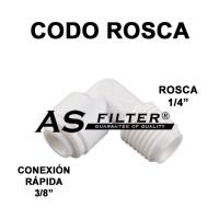 """CODO C.RAPIDA 3/8"""" X ROSCA 1/4"""""""
