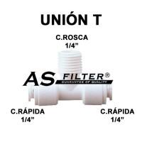 TE ABIERTO C.RAPIDA 1/4 X ROSCA 1/4 X C.RAPIDA 1/4