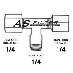 TE ABIERTA C.ROS1/4 X ROS1/4 X C.ROS1/4
