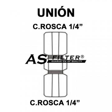 """UNION C.ROSCA 1/4"""" X C.ROSCA 1/4"""""""