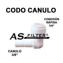 "CODO C.RAPIDA 1/4"" X CANULO 3/8"""