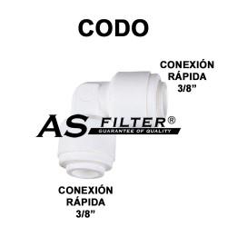 """CODO C.RAPIDA 3/8"""" X C.RAPIDA 3/8"""""""