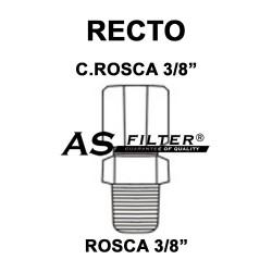 "RECTO C.ROSCA 3/8"" X ROSCA 3/8"""