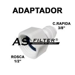 """ADAPTADOR C.RAPIDA 3/8"""" X ROSCA 1/2"""" (HEMBRA)"""