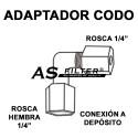 """ADAPTADOR C.ROSCA 1/4"""" X C.DEPOSITO 1/4"""""""