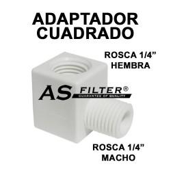 """ADAPTADOR CUADRADO ROSCA 1/4"""" X ROSCA 1/4"""""""