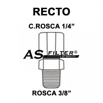 "RECTO C.ROSCA 1/4"" X ROSCA 3/8"""