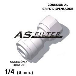 """ADAPTADOR C.RAPIDA 1/4"""" X ESPECIAL 7/16"""""""